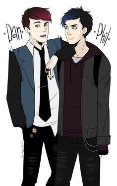 dan and phil phan art kissing - Google Search