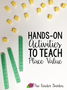 Tons of hands-on ideas for teaching place value!
