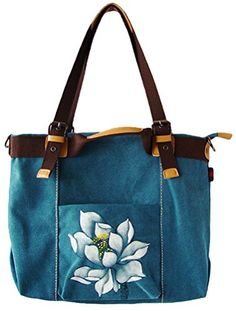 Minibee Women's Canvas Handbag/Shoulder Zipper Bag (One Size, Blue Print) Minibee http://www.amazon.com/dp/B01ANH4ADW/ref=cm_sw_r_pi_dp_qvmMwb0K5R3AC