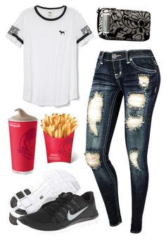 """""""Randomness, Not My Style But"""" by im-a-jeans-and-boots-kinda-girl on Polyvore featuring Victoria's Secret PINK, Vera Bradley and NIKE"""