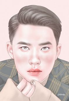 Kyungsoo my my boy Exo fanart Kyungsoo, Exo Fanart, Chansoo, Do Kyung Soo, Kpop, Harry Styles, Sims, Fan Art, Couples