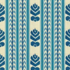 Striking ikat indigo upholstery fabric by Brunschwig Wallpaper Size, Fabric Wallpaper, Pose, Indigo Colour, Color Blue, Ikat Fabric, Pink Fabric, Drapery Fabric, Curtains