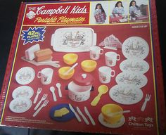 42 PIECE CAMPBELL'S SOUP CAMPBELL'S KIDS CHILTON TOYS KITCHEN PLAYSET