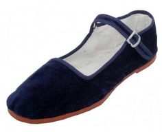 Easy Usa Womens Velvet China Doll Mary Jane Shoes Ballerina Ballet Flats 118a Navy 6