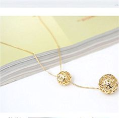 New Fashion Women Necklace Double Gold Plated Long Chain Sweater Pendant Jewelry -- Awesome products selected by Anna Churchill