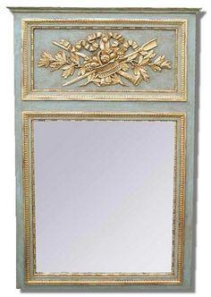 French Trumeau mirror Louis XVI antic trumeau mirror. french | Etsy