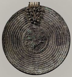 Circular Pendant, 700–800  Viking, probably Gotland  Gilded copper alloy