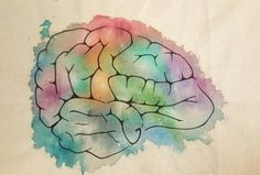 Stoffmalerei Gehirn