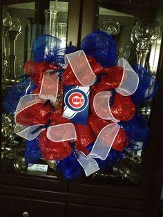 Chicago Cubs Baseball Wreath