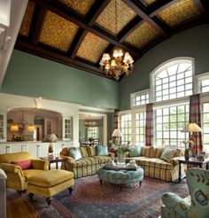 awesome 50 High Ceilings Accent Wall with Traditional and Classic Look https://matchness.com/2017/12/24/50-high-ceilings-accent-wall-traditional-classic-look/