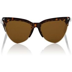 Givenchy Women's 7078/S Sunglasses ($448) ❤ liked on Polyvore featuring accessories, eyewear, sunglasses, tortoise shell glasses, cat eye sunglasses, tortoise shell sunglasses, cateye sunglasses and tortoise shell cat eye sunglasses