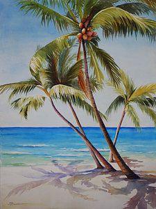 Key West Palms Art Print by Sue Zimmermann