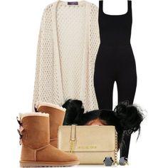 A fashion look from May 2016 featuring Violeta by Mango cardigans, UGG Australia boots и Michael Kors shoulder bags. Browse and shop related looks.