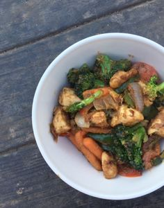 Cashew Chicken Stir Fry — Bacon & Squats