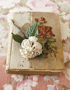 Combines two of my loves, old books and flowers