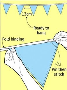 How to make bunting for your garden