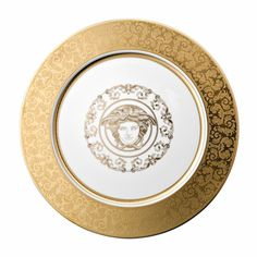 Discover+the+Versace+Medusa+Gala+Gold+Serving+Plate+-+30cm+at+Amara