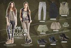 Militar - Tennis Magazine Diciembre 2012 www.tennis.com.co My Style, Polyvore, Image, Fashion, Going Out Clothes, Clothing Stores, December, Woman Clothing, Military