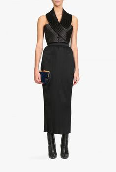Balmain - Pleated crepe maxi skirt - Women's skirts - Fall/Winter 2015