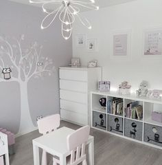 Girly room - Simple White Kids Bedroom with Craft Table and Storage kidsspace kidsroom big
