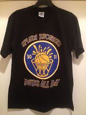 The GOLDEN STATE Warriors- SPLASH Brothers DUBS All Day -Adult T-shirt-#30 & #11