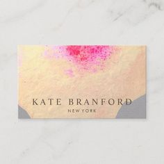 Artistic Yellow Gold Watercolor Large Floral Art Business Card Watercolor Business Cards, Salon Business Cards, Makeup Artist Business Cards, Unique Business Cards, Gold Watercolor, Watercolor Flowers, Watercolor Artists, Yellow, Floral
