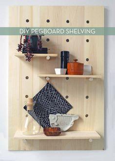 modern #DIY shelves