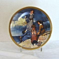 "Norman Rockwell Knowles Plate ""Waiting on the Shore"""