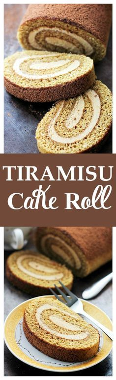 Tiramisu Cake Roll | www.diethood.com | Espresso flavored cake sponge brushed with a coffee-liqueur syrup and filled with a Mascarpone Cheese Whipped Cream.