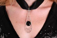 """gümüş+oltu taşı-silver and """"oltu stone"""" pendant"""