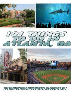 101 Things to do in Atlanta Georgia, great list of attractions and events. @mollie wren wren wren Hamman