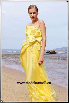 Abendkleid gelb gunstig