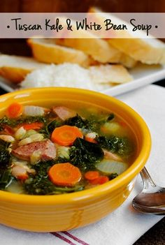 Tuscan Kale and White Bean Soup from Iowa Girl Eats