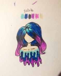 Random doodle from a color palette