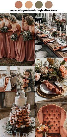 Orange Wedding Colors, Rustic Wedding Colors, Rustic Boho Wedding, Winter Wedding Colors, Winter Wedding Decorations, February Wedding Colors, Wedding Ideas For September, Orange Wedding Decor, Summer Wedding Ideas