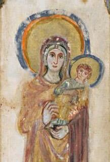 Virgin and Child from the Rabbula Gospels (6th c.)