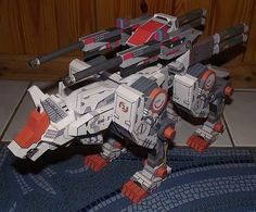 ZOIDS: Command Wolf + Double Cannon - papercraft