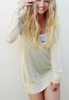 "Sprinkled in gold with Nasty Gal ""s Boy Teams Sweater."