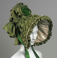 Silk bonnet - c1830