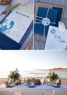 Beach wedding invitations from Peter Loves Jane