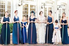 Blue Bridesmaid Dresses - Gatsby Meets Star Wars Wedding at the Ballroom at Church Street - Downtown Orlando Wedding - Orange Blossom Bride - Photographer: SO Photography - Click Pin for More - www.orangeblossombride.com