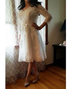 Other Princess Knee-Length Wedding Dress 6