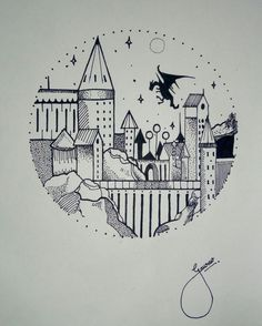 Hogwarts dibujo Doodle – … – You are in the right place about first tattoo ideas mens Here we offer you the most beautiful pictures about the first tattoo ideas quotes you are looking for. When you examine the Hogwarts dibujo Doodle – … – … Doodle Art Drawing, Doodle Sketch, Sketch Art, Drawing Sketches, Doodle Doodle, Drawing Ideas, Tattoo Sketches, Tattoo Drawings, Doodle Tattoo