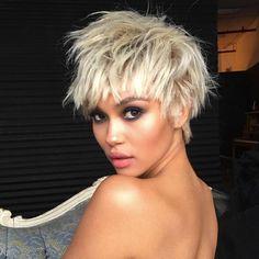 "Model Isabella Peschardt | ""U R NOT READY!  Makeup: @patrickta & Hair: @cesar4styles ( this is a wig, calm down )"""