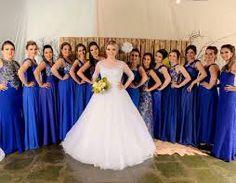 Resultado de imagem para madrinhas e padrinhos de casamento azul royal