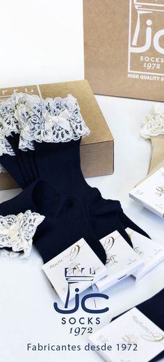 Calcetines altos con puntilla y lazo. JC Castellà fabricantes de calcetines desde 1972