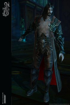 Dracula Armoured Skin, Ana M. Fantasy Male, High Fantasy, Fantasy Rpg, Dark Fantasy Art, Castlevania Dracula, Castlevania Lord Of Shadow, Character Creation, Game Character, Character Design