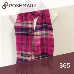 🎉2X HP🎉12/6 PoshLoveFest 100% Cashmere Absolutely Stunning Brand New Boutique Quality Colors: Pink / Navy Accessories Scarves & Wraps