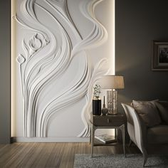 1 million+ Stunning Free Images to Use Anywhere 3d Wall Decor, Wall Decor Design, Mural Wall Art, Room Decor, Interior Wall Colors, Interior Walls, Home Interior Design, Plaster Art, Plaster Walls