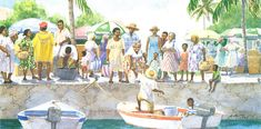 Bag a' Snapper by Anne Miller, 4 x watercolour print Watercolor Print, Watercolours, Caribbean, Bags, Painting, Handbags, Painting Art, Paintings, Painted Canvas